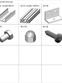 AliDeck Non Combustible Aluminium Metal Decking Assembly