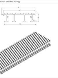 AliDeck Non Combustible Aluminium Metal Decking Interlocking Board Standard Drawing