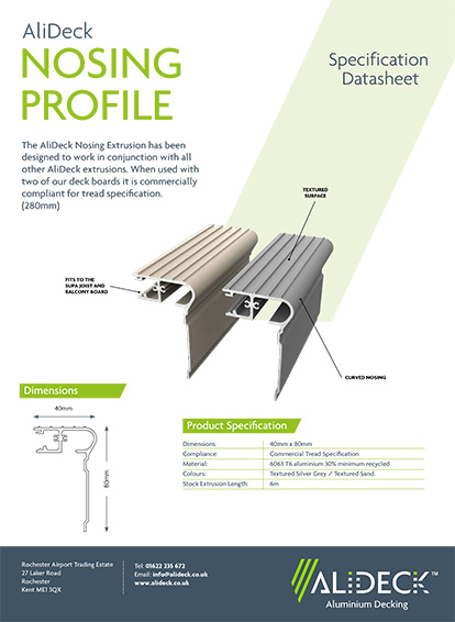 AliDeck Nosing Profile Spec Sheet