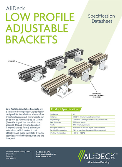 Low Profile Adjustable Brackets Spec Sheet
