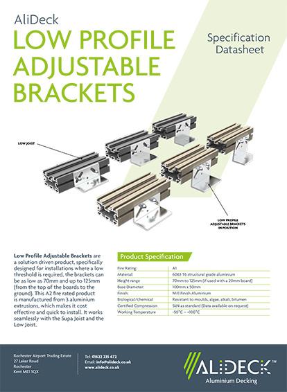 Low Profile Adjustable Brackets Spec Sheet