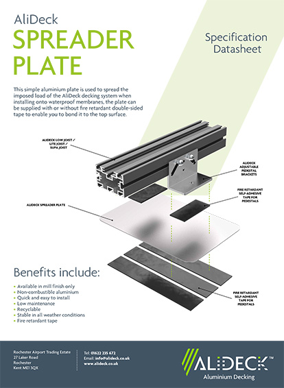 AliDeck Spreader Plate Spec Sheet