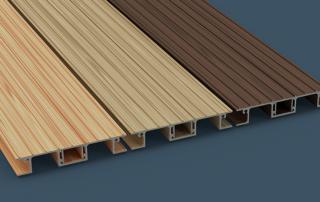 AliDeck Non Combustible Aluminium Decking Woodgrain Image