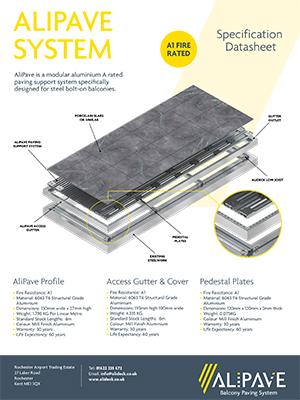 AliPave Aluminium Balcony Paving System Datasheet