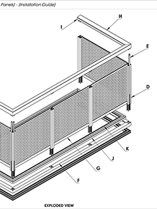 AliRail Installation Guide Aluminium Infills