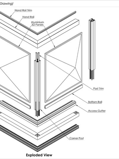 AliRail With 3D Infill Panels Standard Drawings