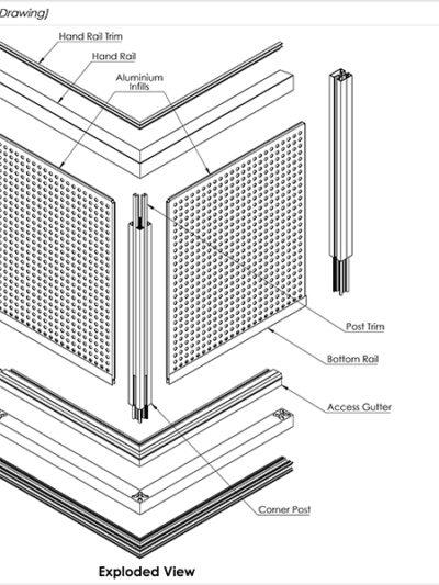 AliRail Aluminium Infills Standard Drawings