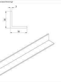 Aluminium Angle Standard Drawing