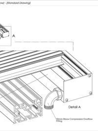 Gutter Channel Overflow Standard Drawing