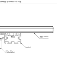 Gutter Outlet Spigot Assembly Standard Drawing