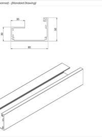 Junior Board Gutter Channel Standard Drawing