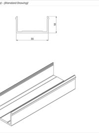 Senior Balcony Board clip Standard DrawingSenior Balcony Board clip Standard Drawing