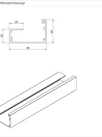 Lite Gutter Channel Standard Drawing