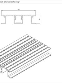 SNR Balcony Flat Board Standard Drawing