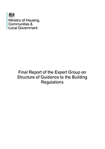 Final Report of the Expert Group on Structure of Guidance to the Building Regulations