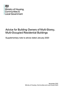 Supplementary Note To Building Safety Advice For Building Owners