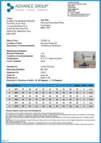 Slip Resistance Data Sheet Flat Balcony Board