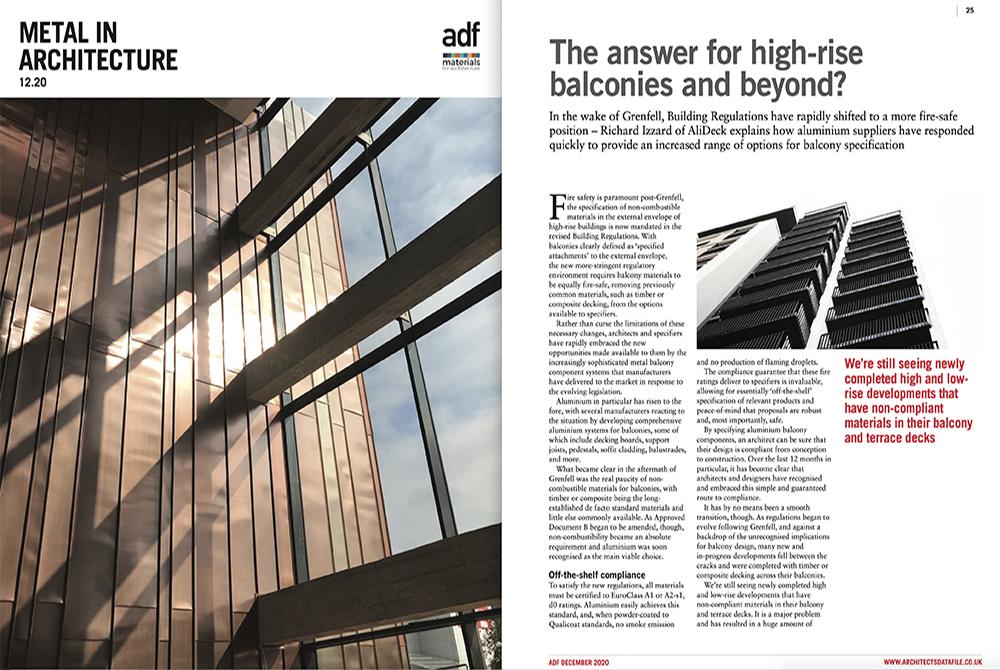 ADF Metal in Architecture Aluminium Feature Dec 2020