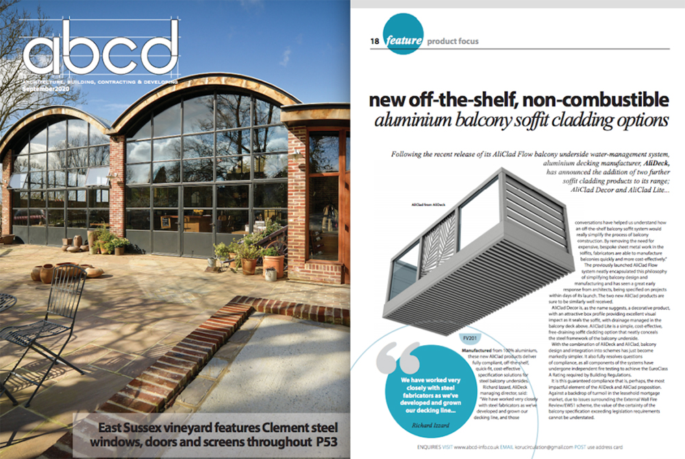 AliClad Balcony Soffit Cladding Featured In ABC&D Magazine September 2020