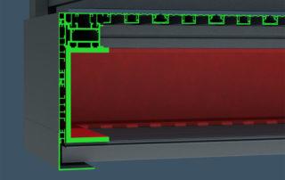 AliClad Soffit Cladding Steel Visualisation