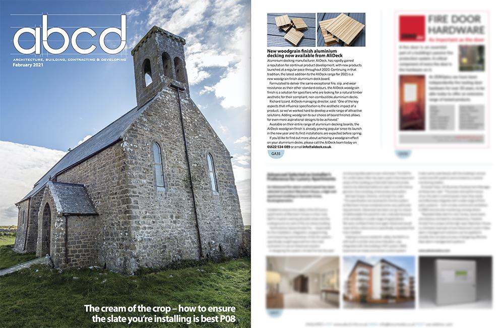 AliDeck ABCD Magazine February 2021 Woodgrain Finish Feature