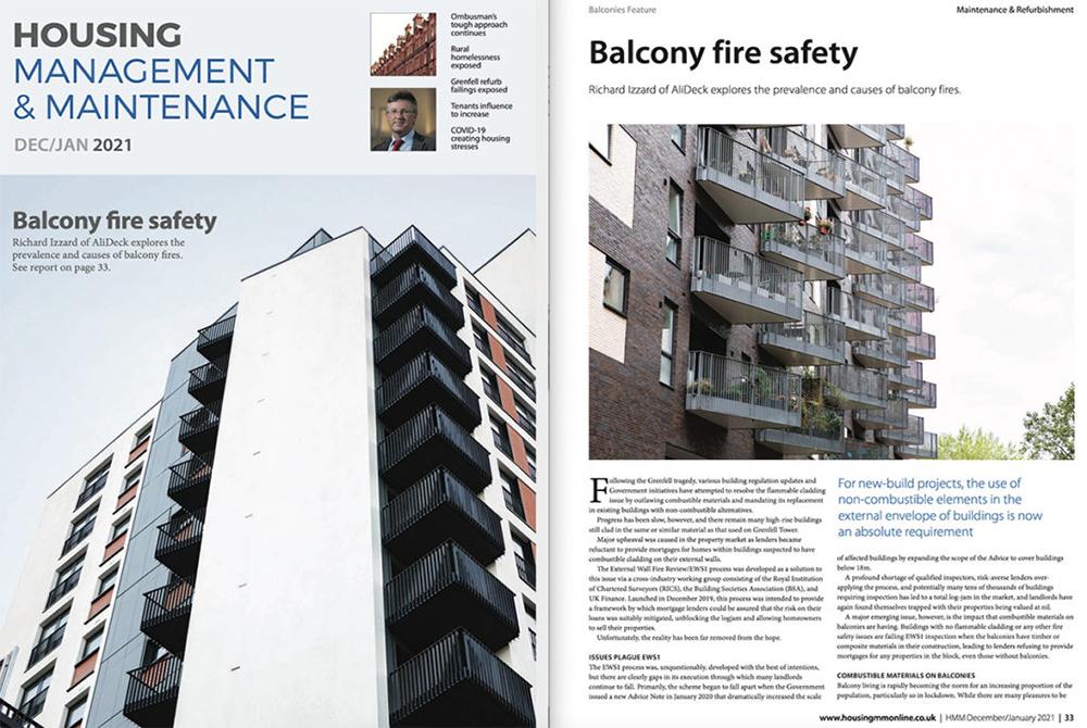 AliDeck Aluminium Balcony Decking Housing Management Maintenance Jan 2021