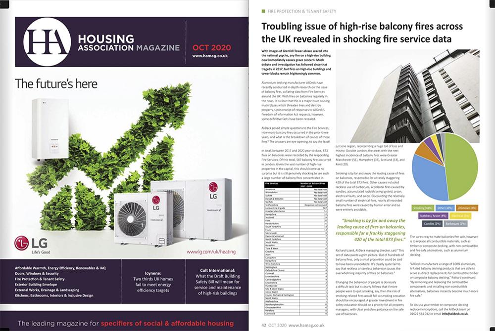 AliDeck Aluminium Decking Housing Association Magazine October 2020