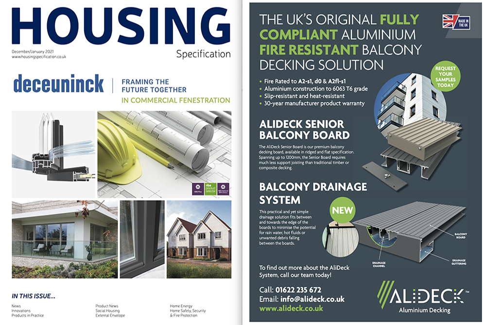 AliDeck Balcony Decking Housing Specification December