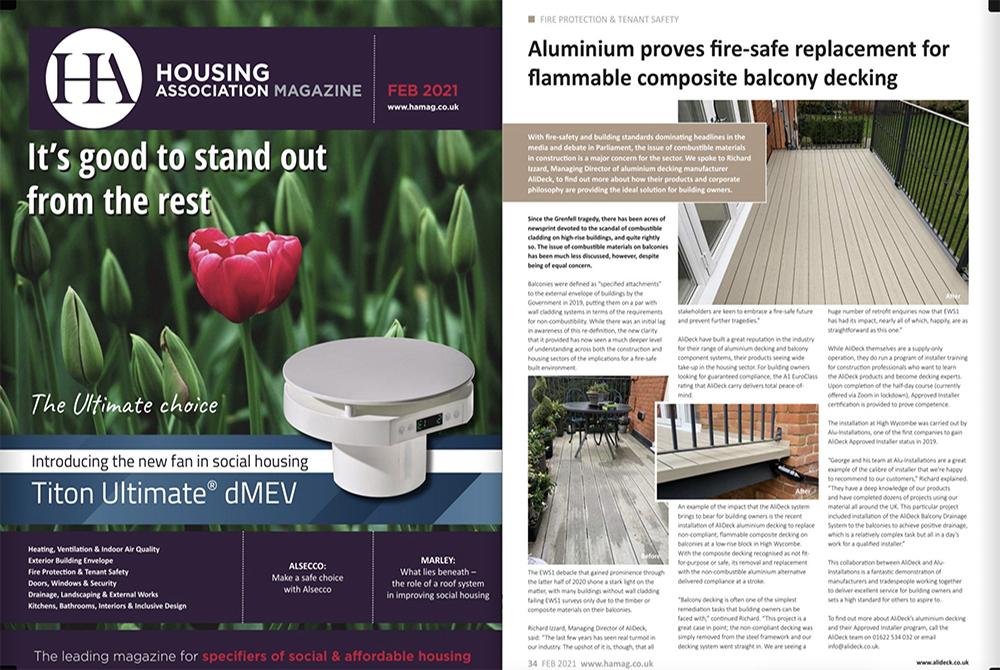 AliDeck Housing Association Magazine