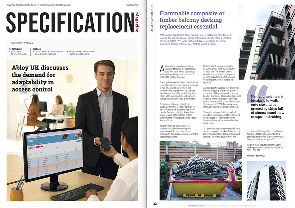 AliDeck Specification Magazine March 2021