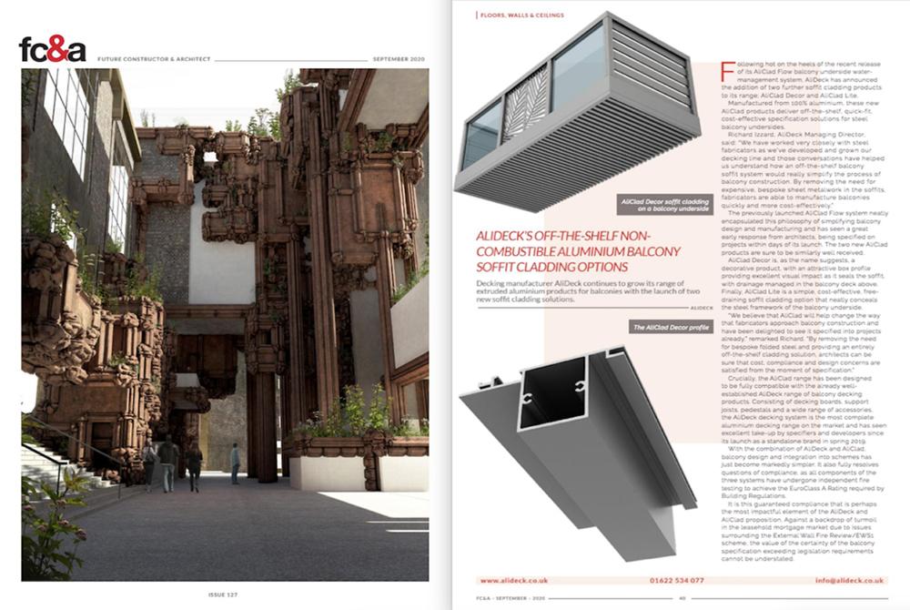 FC&A AliDeck Feature Magazine September 2020