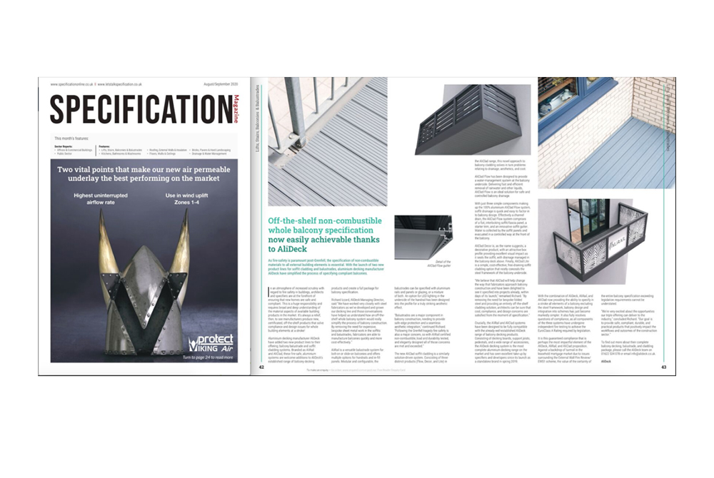 Specification Magazine Aug/September 2020 Feature
