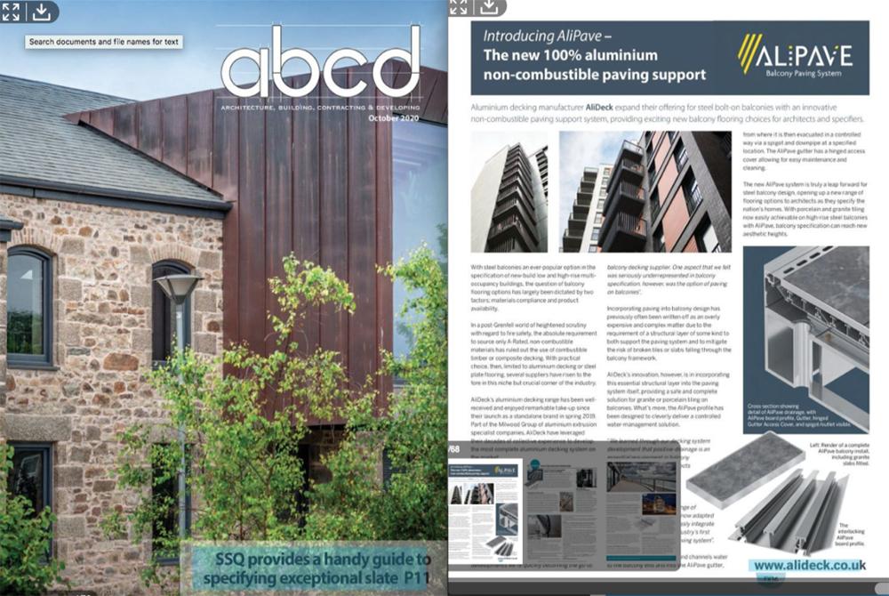 ABC&D AliDeck Magazine Feature October 2020