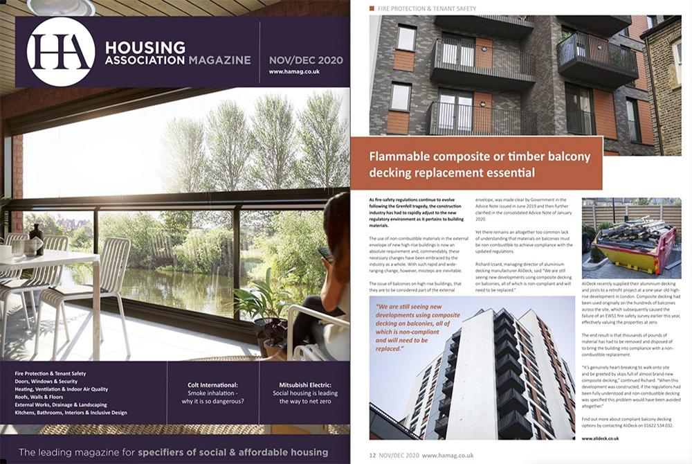 AliDeck Housing Association Magazine Dec 2020