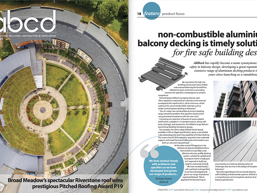 AliDeck ABCD Magazine Product Focus Decking April 2021
