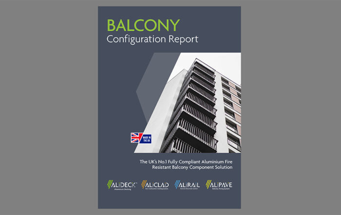 AliDeck launch balcony configuration tool for architects and specifiers