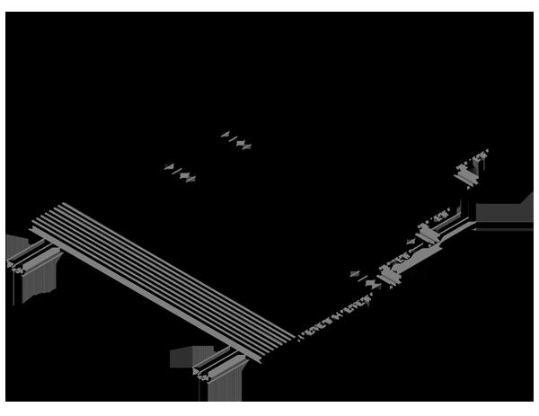 AliDeck Aluminium Decking Micro Joist CAD Drawing