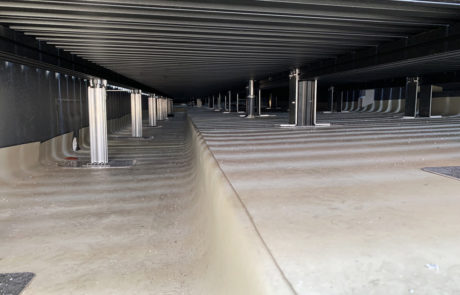 AliDeck Aluminium Decking Pedestal Range Copes With Multiple Build Up Heights or Falls