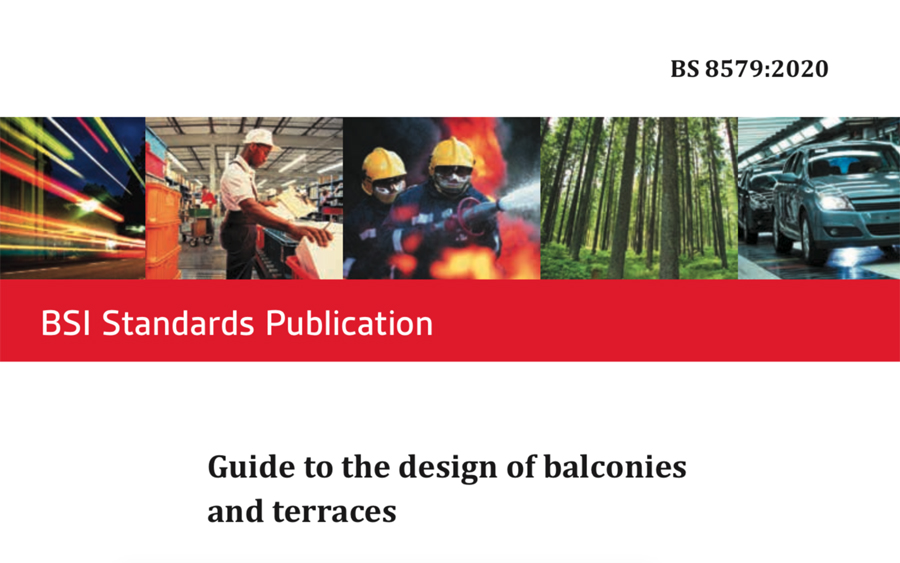 BS8579 Guide to the design of balconies and terraces