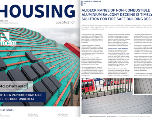 AliDeck Featured in the April/May 2021 Issue of Housing Specification Magazine