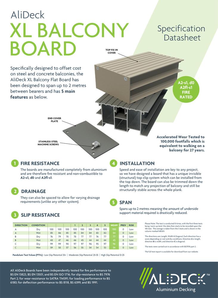 AliDeck XL Balcony Board Data Sheet_v2-1