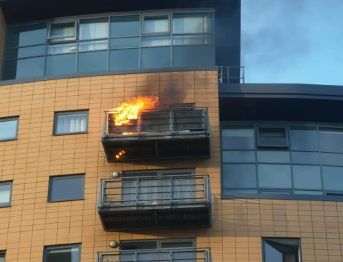 Fire on balcony in Leeds Combustible Decking Ignited