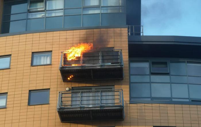 Leeds Balcony fire