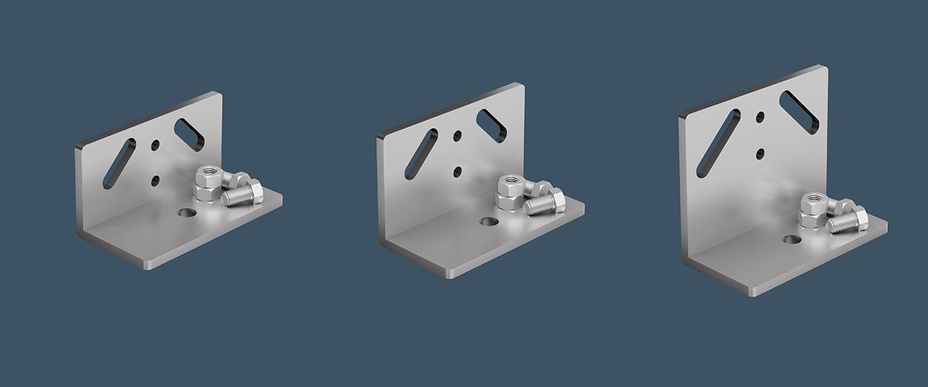 AliDeck Standard Adjustable Pedestal Brackets