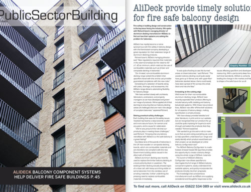AliDeck Featured in the July 2021 issue of Public Sector Building Magazine