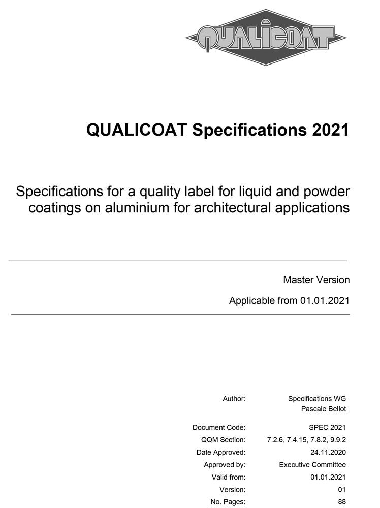 QUALICOAT Specifications 2021