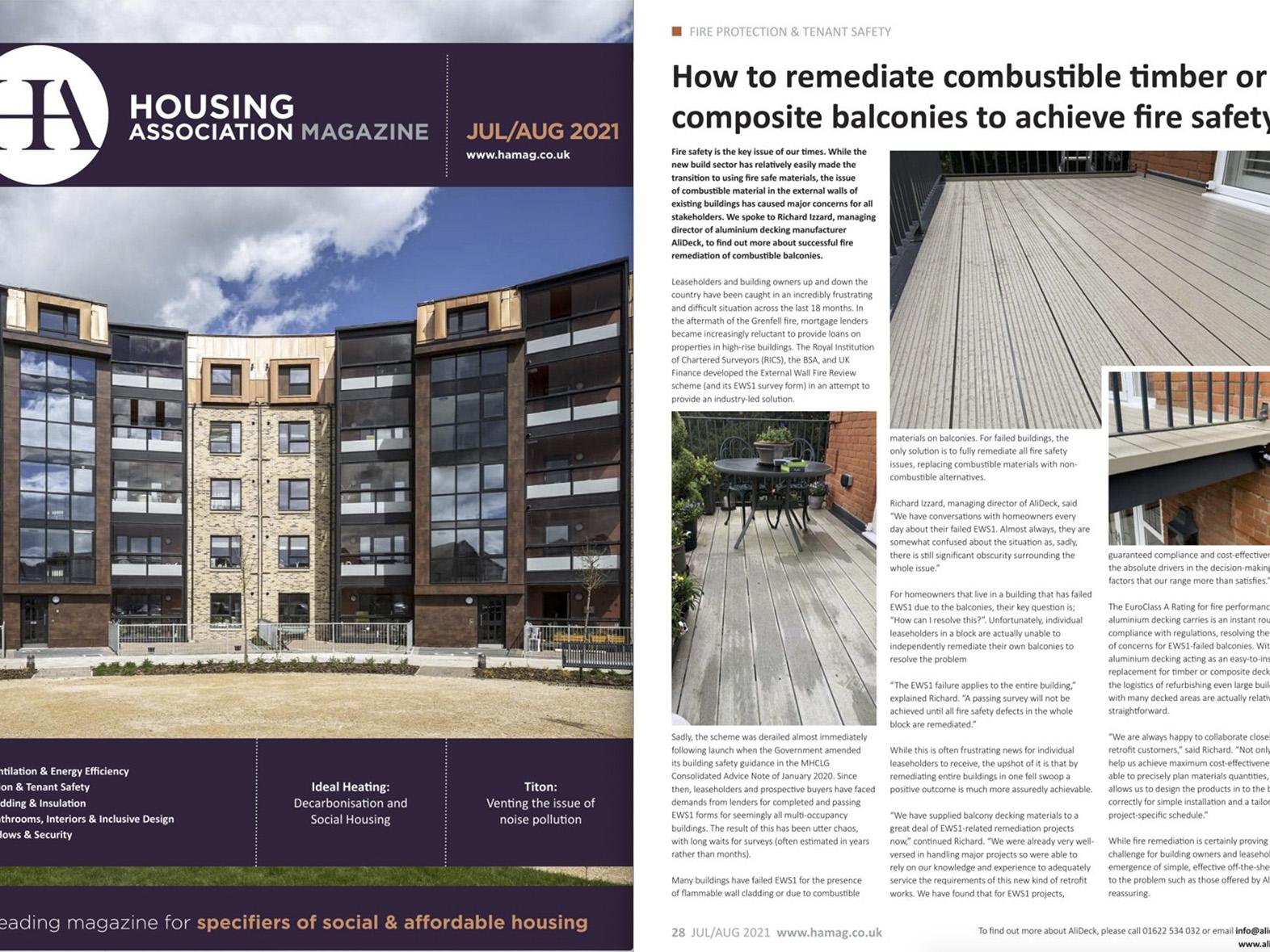 AliDeck Housing Association Magazine July August 2021