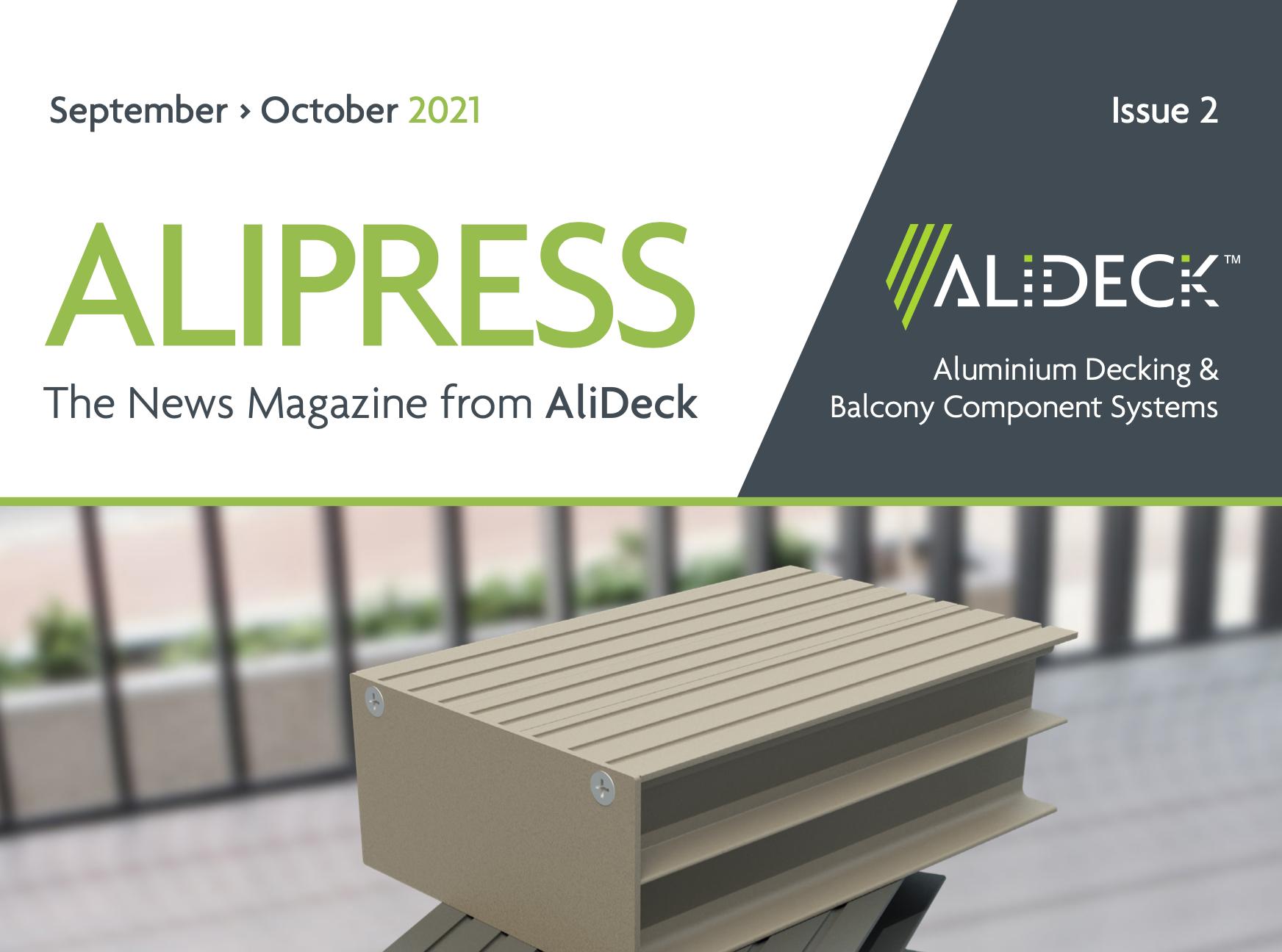 AliDeck Aluminium Decking September October Issue of AliPress