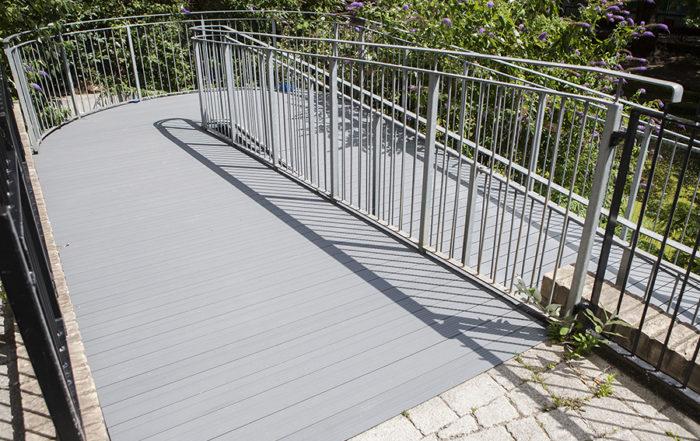 AliDeck Aluminium Decking Walkway Case Study London