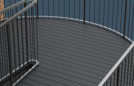 AliDeck Aluminium Decking Walkway Case Study London Render